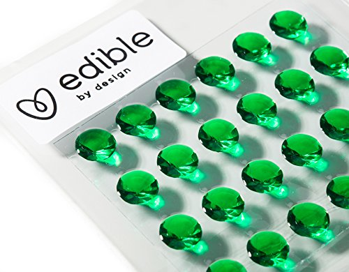 Edible By Design Green Gel Diamonds, 7mm x 100
