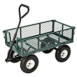 Heavy Duty Professional Garden Cart With Steel Frame, 900 Pound Capacity