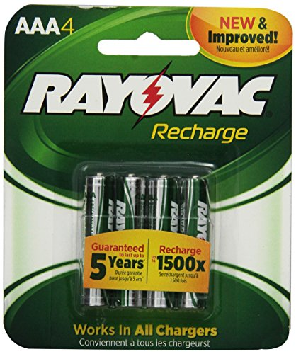 Rayovac Recharge Rechargeable Pre Charged LD724 4OP