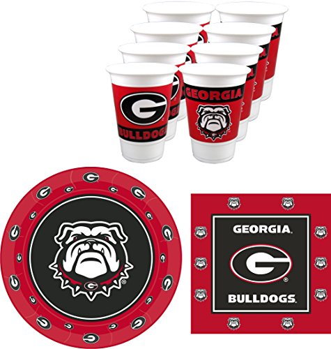 Westrick Georgia Bulldogs Party Supplies - 48 pieces -