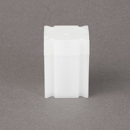 (5) Coinsafe Brand Square White Plastic (Half Dollar) Size Coin Storage Tube Holders