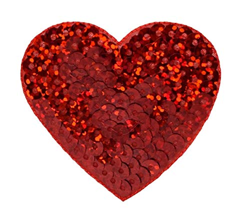 Red Sequin Heart - Valentine Large 2