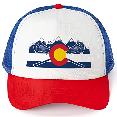 Guys Lacrosse Trucker Hat | Colorado Lacrosse | Royal-Red