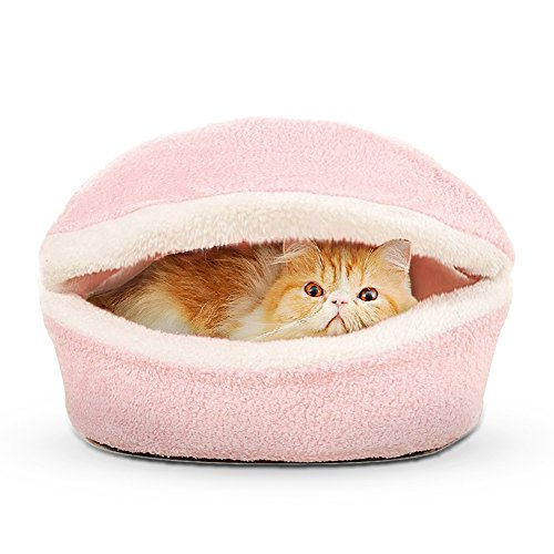 Valentine Fashion Pet Bed Creative Cat Mat for Cute Animal Catty and Doggy Sleeping Playing Resting Bed (Pink, Hamburger)