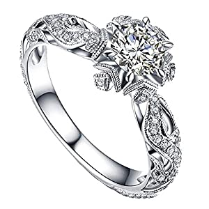 Best Epic Trends 51iSBYfGuhL._SS300_ 2020 Thanksgiving Limited Edition Rings Exquisite Hollow Out Ring Women Engagement Wedding Jewelry Accessories Gift