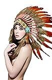 KII Native American Headdress (Unisex Adult; One Size) (Amber/Brown SH020)