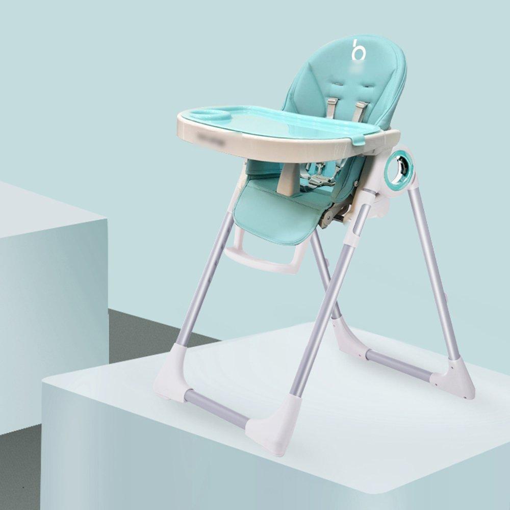 LJHA ertongcanyi ダイニングチェア多機能折りたたみダイニングチェア子供用赤ちゃん食べるダイニングベビーテーブルとチェア3色オプション (色 : B)  B B07FQLCV35