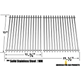 Stainless Cooking Grid for Broil-King 9865-74, 9865-77, 986784, 986784c, 986787c, 9869-87r, 986984, Connoisseur 90, Crown 10, Crown 20, Crown 40, Crown 70, Crown 90, Signet 20, Signet 40, Signet 70, Signet 90 Gas Grill Models, Set of 2