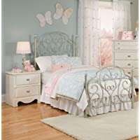 Standard Furniture Spring Rose Metal Kids Bed in White Twin