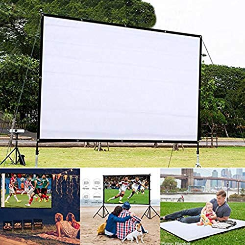 Fanala Portable Folding Movie Screen Household Light Resistant Projection Screen Projection Screens from FANALA