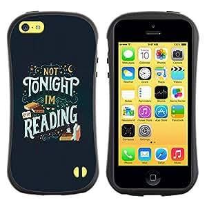Be-Star Impreso Colorido Diseño Antichoque Caso Del Iface Primera Clase Tpu Carcasa Funda Case Cubierta Par Apple iPhone 5C ( tonight reading book text book )