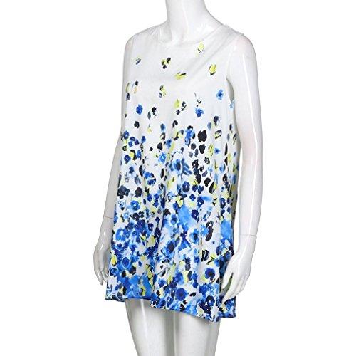 Donna Elecenty da Elecenty Senza Estiva Stampa Vintage Mini Vestiti da Gonne Abito C Corto Donna Abito Abito Maniche a r8I8qT