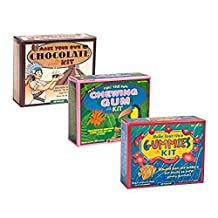 Make Your Own Chocolate Gummy and Chewing Gum Kits - 3 Pack Bundle