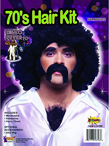 Forum Novelties 70s Disco Costume Facial and Chest Hair]()