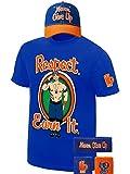 John Cena Respect Earn It Costume T-Shirt Baseball Hat Headband Wristbands Boys Juvy-YM (10-12)