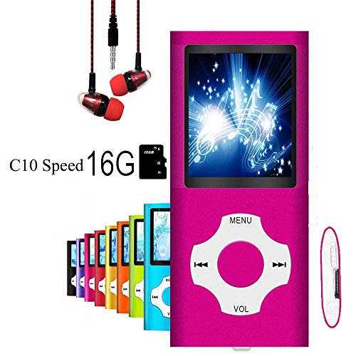 """MP3 Player / MP4 Player, Hotechs MP3 Music Player with 16GB Memory SD Card Slim Classic Digital LCD 1.82"""" Screen with FM Radio, ¡"""