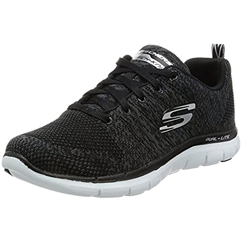 a6c94d6e7025f Skechers Flex Appeal 2.0 High Energy Womens Sneakers Black/White 6.5  low-cost