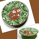 Mama & Baby Fox Ring Dish- Handmade Jewelry Holder-Baby Shower Gift- Polymer Clay Dish-Gifts for Birthday Graduation- Animal Ring Dish