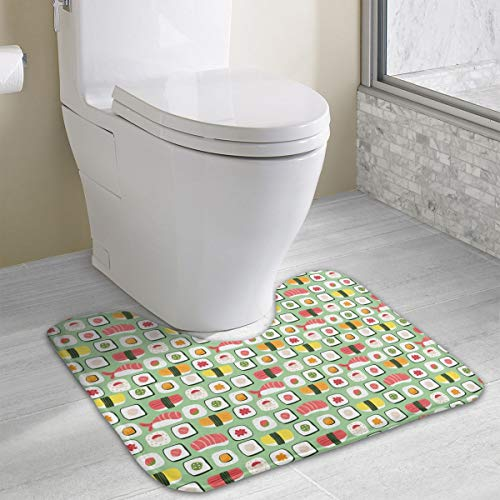 Homlife Bath Mat Non-Slip Absorbent Super Cozy Coral Velvet Bathroom Rug Toilet Carpet (15.74