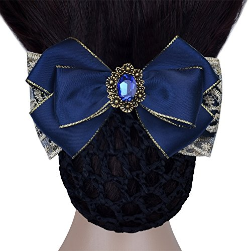 Generic Professional head flower hair string bag Banks hotel beauty salon school nurse stewardess blue Phnom Penh Diamond Pearl Hair Accessories