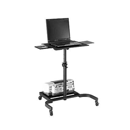Cablematic - Carrito auxiliar para proyector notebook impresora con ruedas configurable