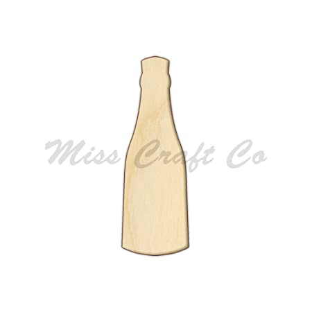Wooden MDF Champagne Bottle Glass Craft  Cards Decorations Scrapmaking Hanging