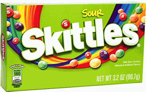 6 pack- Sour Skittles Theater Size Box – 3.2oz.