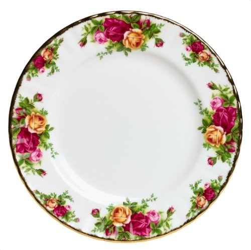 Yellow Rose Dinner Plate (Royal Albert Old Country Roses Salad Plate)