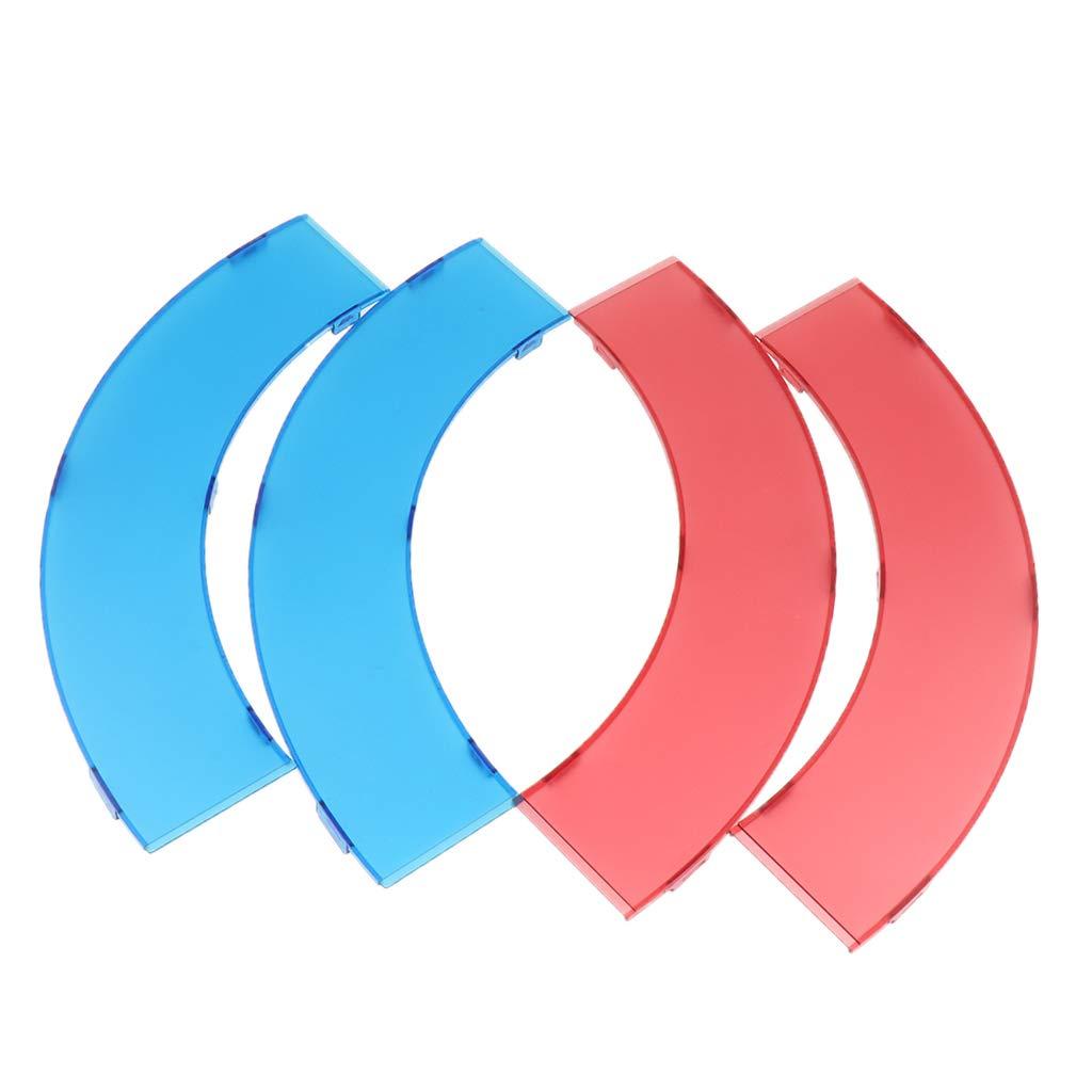 Fityle 18 Inch Selfie LED Ring Light Color Filter Set Kit 4 in 1 for Studio Flash Speedlight Strobe Accessory