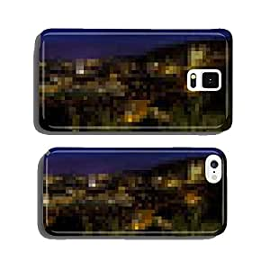 Prague by night, panoramic view of the city. cell phone cover case Samsung S6