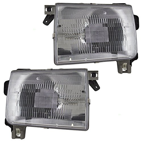 (Driver and Passenger Headlights Headlamps Replacement for Nissan Pickup Truck SUV 260607B425 260107B425 AutoAndArt)