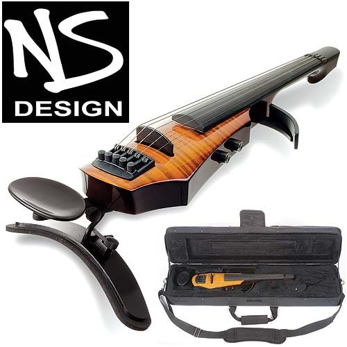 NS Design WAV-5 Electric 5-String Amber Burst Violin with Hard Case ()