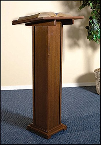 Maple Hardwood Standing Lectern in Walnut Stain Finish, 43 Inch