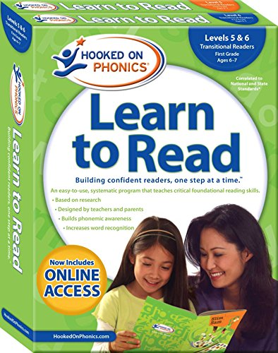 Hooked on Phonics Learn to Read - Levels 5&6 Complete: Transitional Readers (First Grade | Ages 6-7) (3) (Learn to Read Complete Sets)