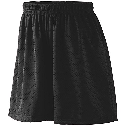 Lined Tennis Shorts (Augusta Sportswear WOMEN'S TRICOT MESH SHORT/TRICOT LINED XL Black)