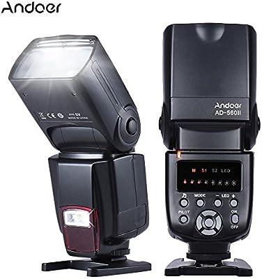 Andoer Flashes con zapata Flash Speedlite para Cámara Canon Nikon ...