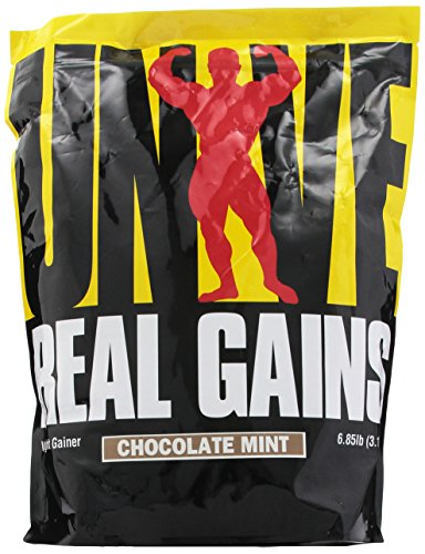 Real Gains Weight Gainer with Complex Carbs and Whey-Micellar Casein Protein Matrix Chocolate Mint 6.85#