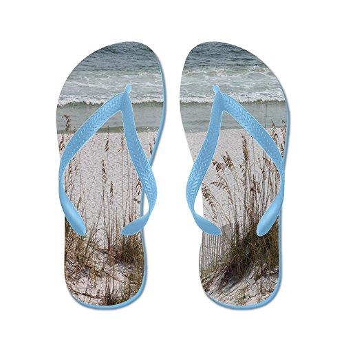 CafePress Sandy Beach - Flip Flops, Funny Thong Sandals, Beach Sandals Caribbean Blue
