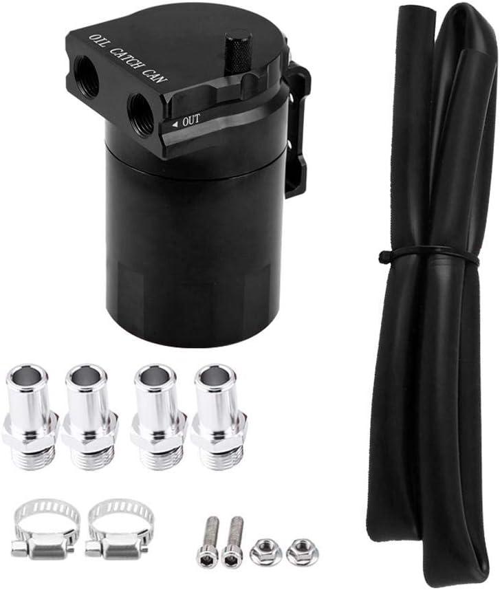Ebtools Ölbehälter 300 Ml Universal Aluminium Auto Motor Ölbehälter Catch Can Breather Tank Kit Schwarz Auto