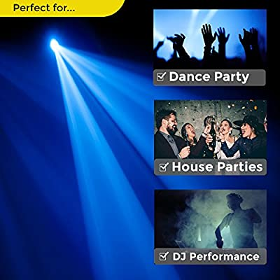 LED Strobe Light by NuLights - Strobe Flash Party Lights - 100% RISK FREE! Best for Birthdays, DJ / Disco Parties & Children's Parties - Mini Strobe Light with 36 LEDs, Sound Activated, Variable Speed