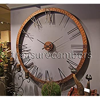 Amazon Com Extra Large Copper Open Wall Clock Designer