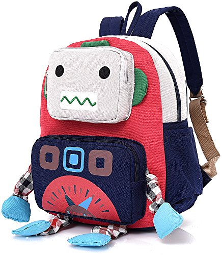 Infant Kid Backpack with Leash Robot Boy with Strap Animal Daycare Preschool Bag