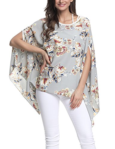 Bird Womens Light T-shirt - Nicetage Women's Bird Heart Geometric Print Short Sleeve Chiffon Top T-Shirt Blouses 10007
