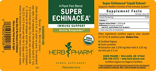Herb Pharm Certified Organic Super Echinacea Liquid Extract for Active Immune System Support - 4 Ounce by Herb Pharm (Image #6)