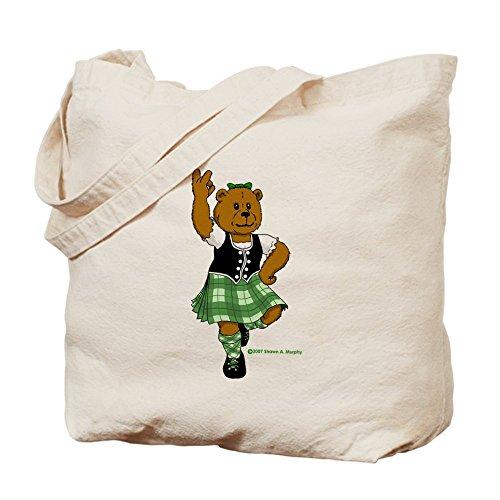CafePress–Molly il Highland Ballerina Bear–Borsa di tela naturale, panno borsa per la spesa