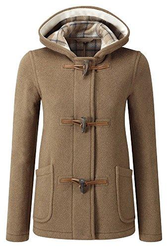 (Womens Short Duffle Coat (20, Camel))