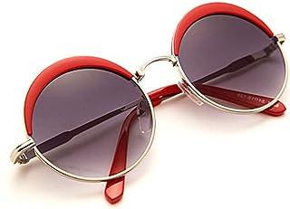 ERTMJ Occhiali da Sole Rotondi per Bambini Occhiali da Sole per Bambini da Uomo Bambino Occhiali da Sole personalità retrò Tondo Principe Specchio Ragazze Parasole Pellicola Colorata