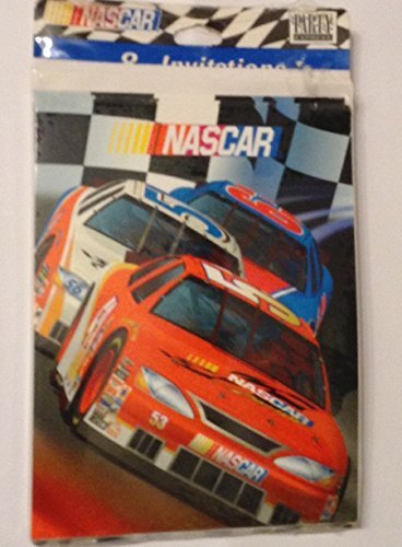 NASCAR Birthday Party Invitations 8 Count with envelopes -