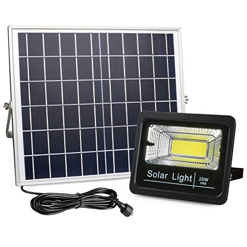 2019 New Version Solar Flood Lights Outdoor Dusk to Dawn, Awanber 1100 Lumens 3 Optional Modes LED Remote Control Solar Security Lighting Fixture for Garden, Garage, Pathway, Pool, Deck, Yard, Street