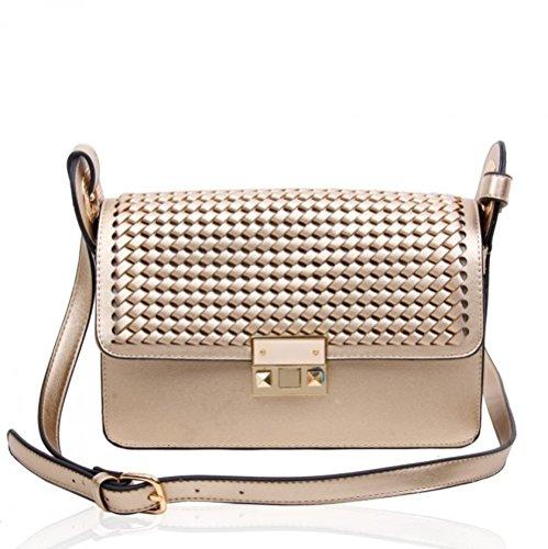Ladies Messenger L Style Women's Handbags Bag Gold Celeb Bags Shoulder 160132 Body Cross wqHHxYtZ